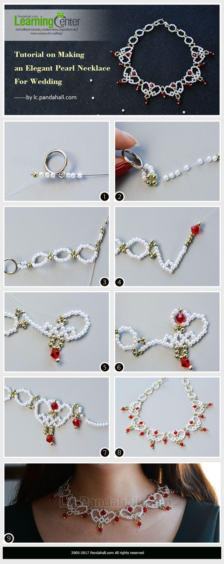 Tutorial on Making an Elegant Pearl Necklace For Wedding