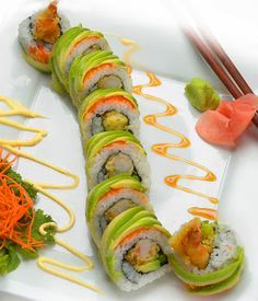 Cómo hacer Dragón Sushi Roll - si alguna vez me pongo muy valiente para tratar de sushi roll