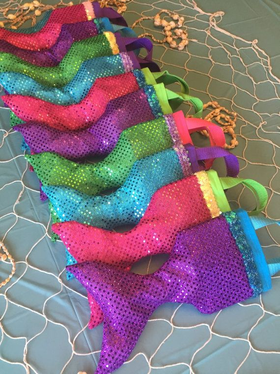 LITTLE MERMAID Party Favor Tote ARIEL Swimming Party Tote