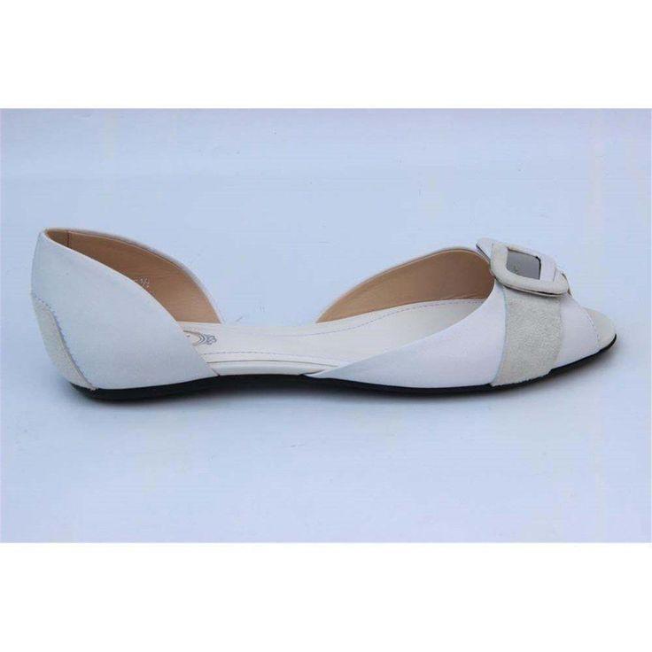White 37 EUR - 6.5 US (247mm) Tods ladies flat sandal XXW0LW0B9002YCB001