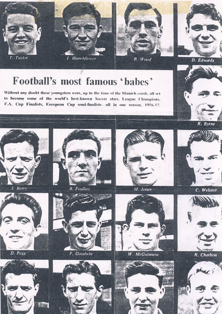 Munich Air Disaster 1958. Manchester United players and journalists died. They made an ill fated journey and the rest they say is history. The link takes you to The Guardian newspaper that gives more details about what happened. Manchester United are also mentioned in the book when two of the characters go to a game.