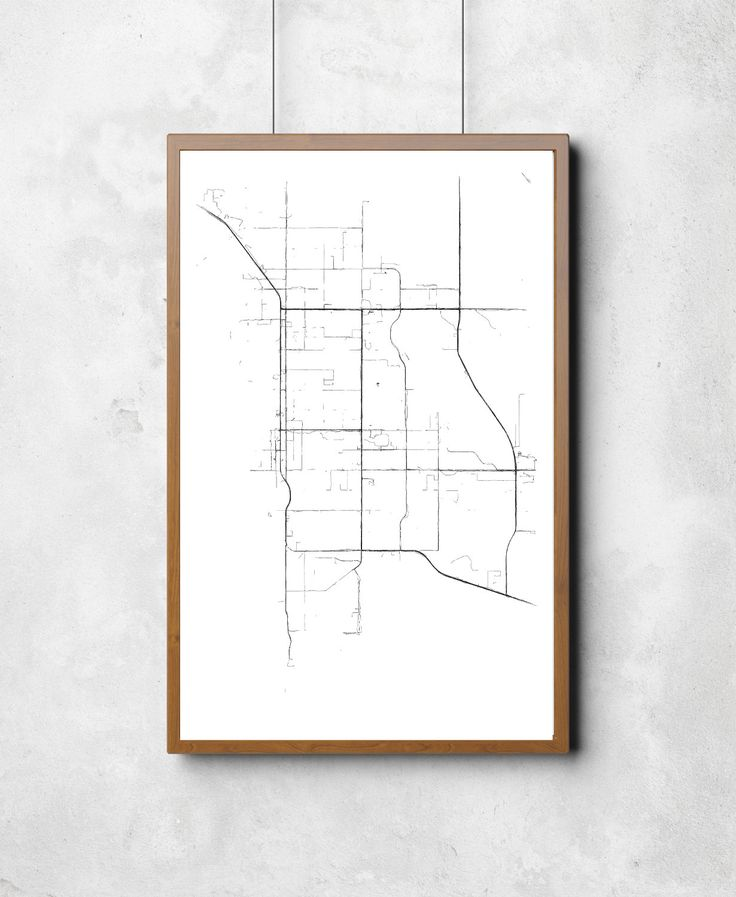 Map of Palm Springs Palm Springs Palm by CoastHeavyIndustries