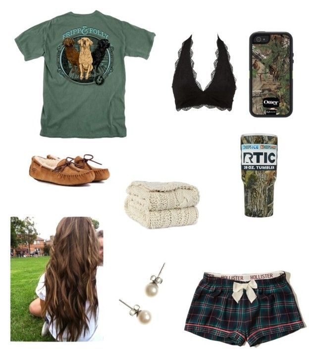 """Sleepy girl"" by babyinblue on Polyvore featuring Hollister Co., Charlotte Russe, J.Crew and UGG"
