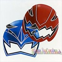 Power Rangers 'Red Ranger' Paper Masks (8ct)