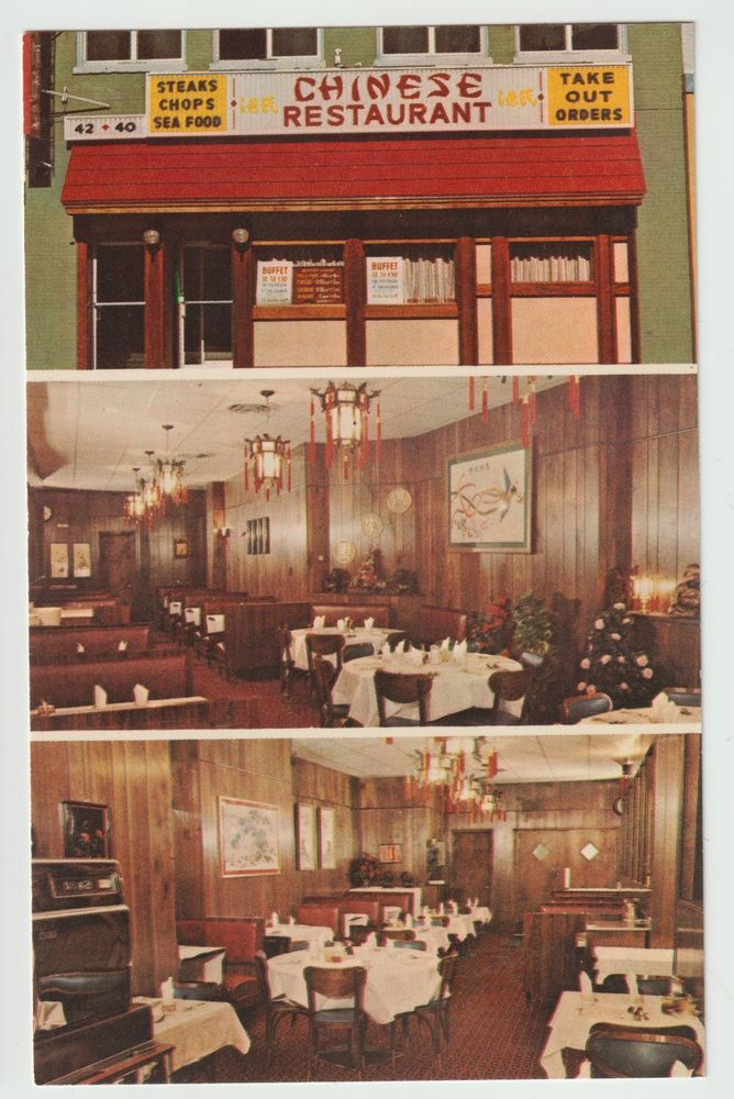 Unused Postcard Tangs Chinese American Restaurant Red Bank New Jersey Nj