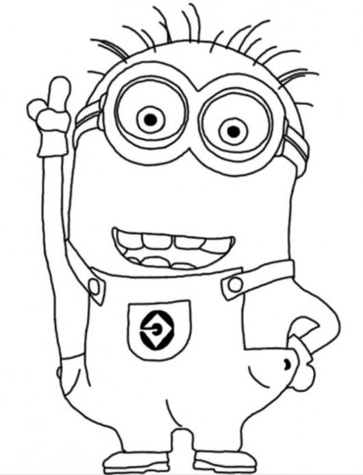 two eyed minion coloring page