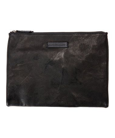 Another great find on #zulily! Black Michelle Leather Tech Clutch #zulilyfinds