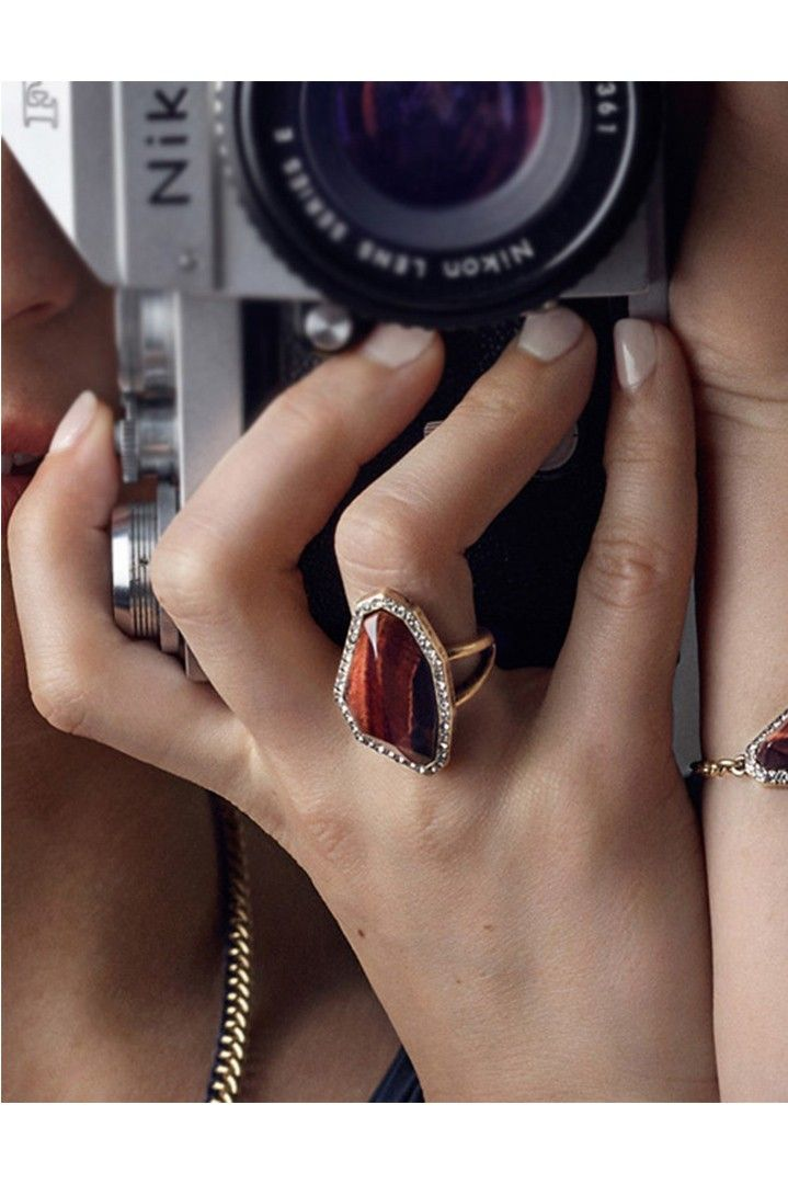 Vintage δαχτυλίδι με κόκκινη πέτρα