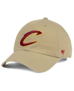 '47 Brand Cleveland Cavaliers Khaki Clean Up Cap - Tan/Beige Adjustable