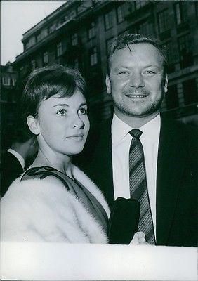 Vintage photo of Aldo Ray with his third wife Johanna. 1960. -