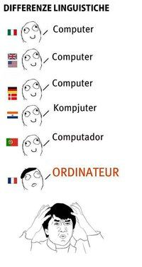 Differenze Linguistiche...All of the sense in the world is made in the french language