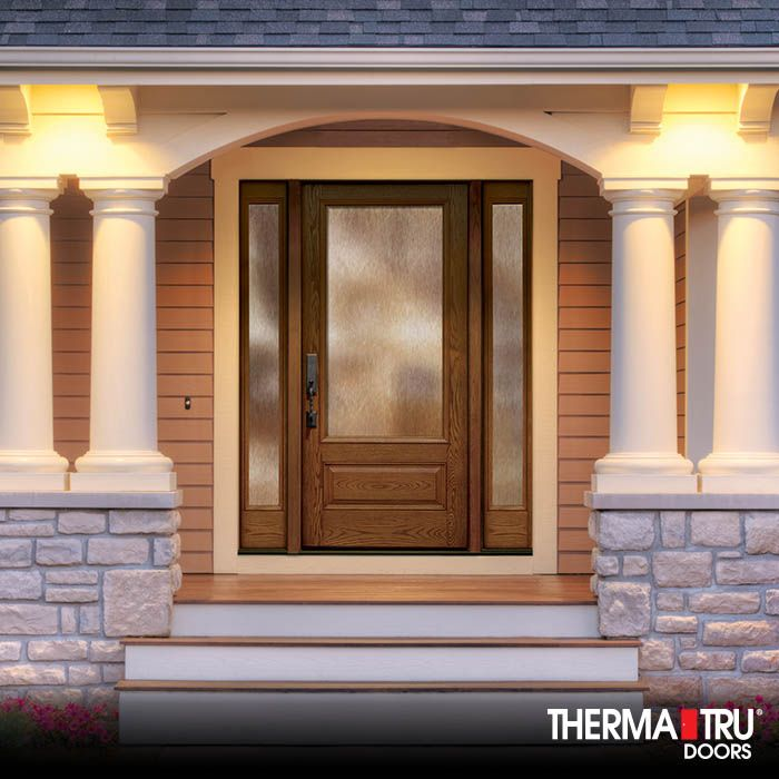 Therma-Tru Classic-Craft Oak Collection fiberglass door with Chord privacy glass. & 11 best Classic-Craft Oak Collection images on Pinterest | Entrance ...