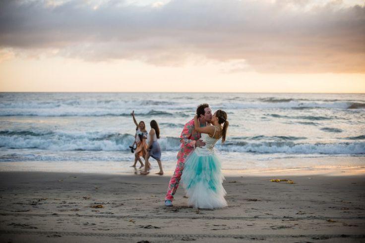 Dipped beach kiss