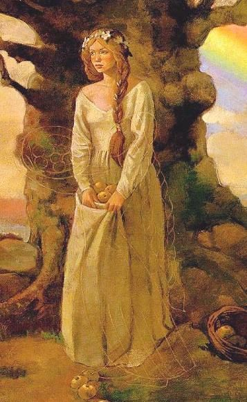 Idunn / Idunna was the Norse goddess of immortality, spring, health, and life. She tends the apples of youth which give the Aesir their long lifespan.