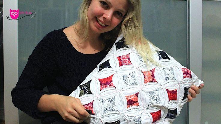 DIY Eule: Anleitung Kirchenfenster Patchwork Kissen nähen