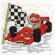 Drive a Race Car Cross Stitch Kit - Make A Wish - DMC