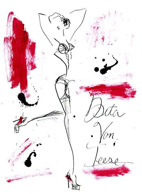 """""""Dita Von Teese, Modern Betty page"""" black hair, red lip and sexy heels…she is really gorgeous!!! 黒髪と赤い唇にハイヒールがセクシーな、現代のベティ・ペイジ、ディータ・フォン・ティース。"""