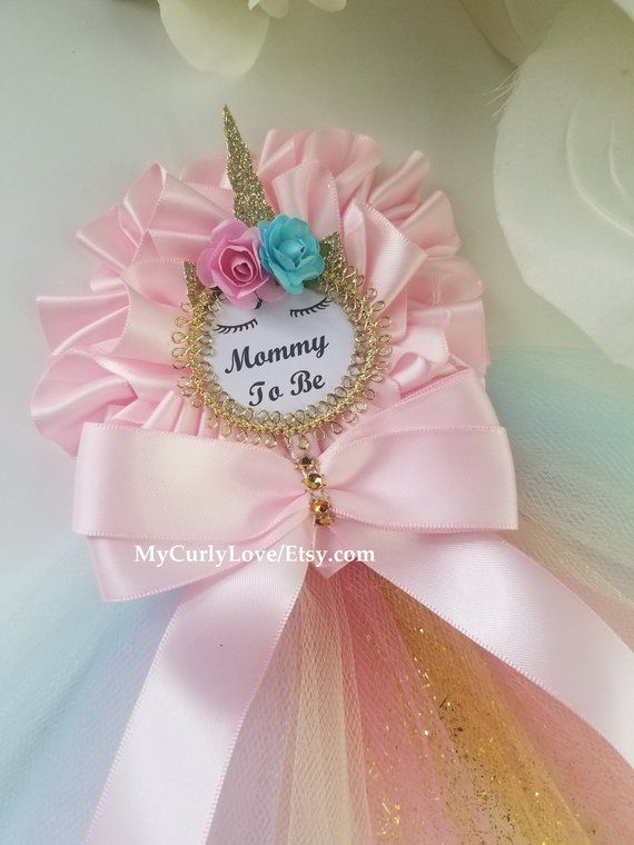 Unicorn Baby Shower Mommy To Be Corsage Unicorn Baby Shower Mommy