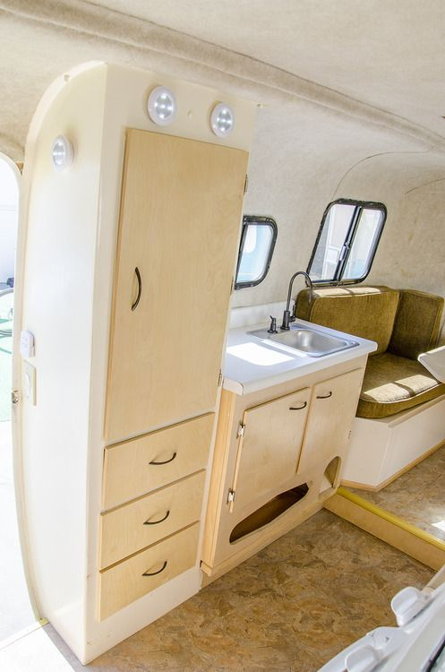 "The Happier Camper • ""Chief"" 17 ft. scamp, portable kitchen, door side kitchen."