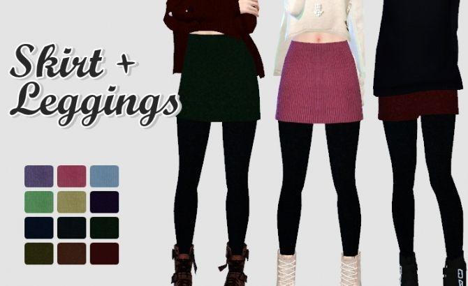Skirt Leggings at Rinvalee • Sims 4 Updates