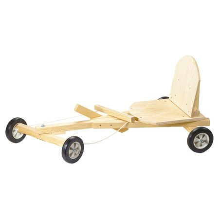 Wood go cart carpentry kit.  Product: Go cart kitConstruction Material: WoodColor: Natural