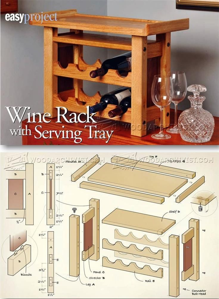 Build Wine Rack - Woodworking Plans and Projects | WoodArchivist.com