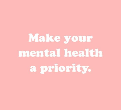 Take the time to take care of your inner self. I'm a firm believer that we all need the occasional mental health day.