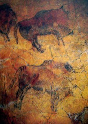 Bisonte, 15000-10000 a.C. caverna di Altamura in Spagna