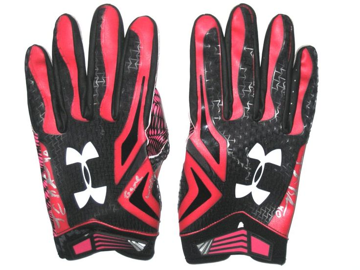 Tommy Bohanon New York Jets Game Worn & Signed Breast Cancer Awareness Pink & Black Under Armour Gloves (Worn Vs New England Patriots on October 25th, 2015)