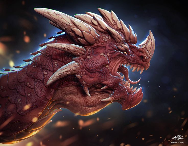 ArtStation - RED DRAGON, Andy Chin
