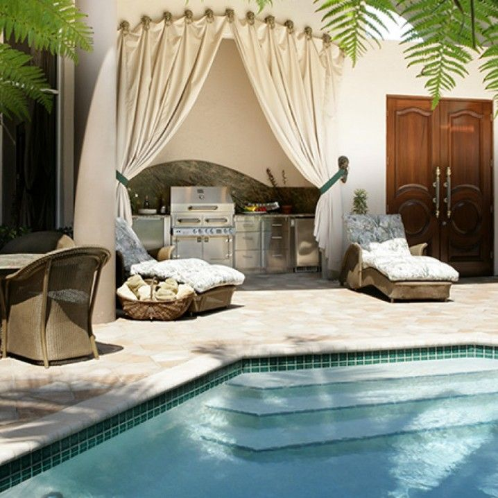 5 Perfectly Amazing Outdoor Kitchen Layout Ideas: Outdoor Luxury Kitchen Designs
