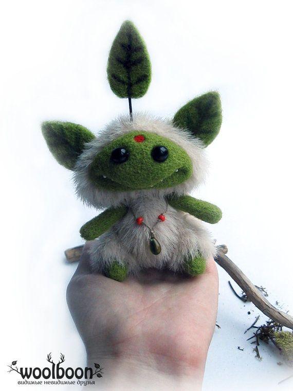 Art doll ooak fantasy art doll woodland art doll by WoolBoon