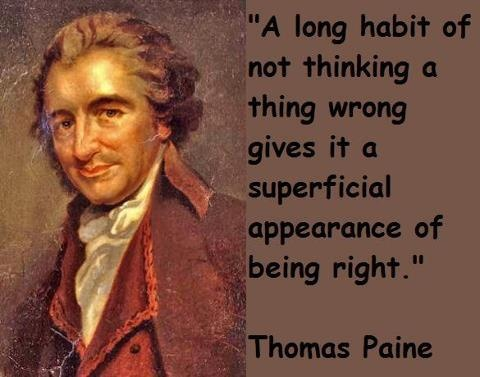 human rights with jefferson and paine Natural rights and wrongs: burke vs paine on this, paine and thomas jefferson were at one the authority of the past could at most rest on the success with which our predecessors had dealt with problems.