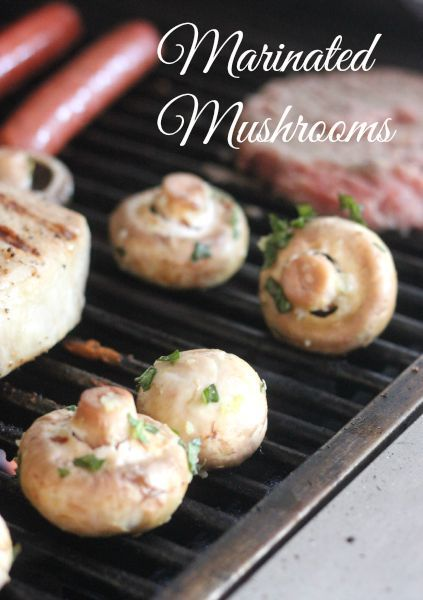 Marinated Mushrooms cooked on the grill - These are packed with so much flavor!
