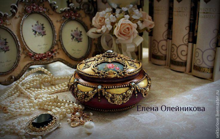 Купить или заказать шкатулка золото и бордо в интернет-магазине на Ярмарке Мастеров.