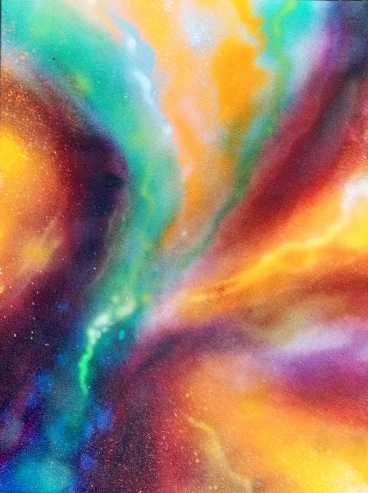 """18x24"""" spray paint on canvas."""