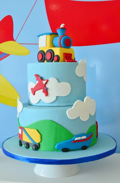 INCREDIBLE Transportation themed birthday party cake!