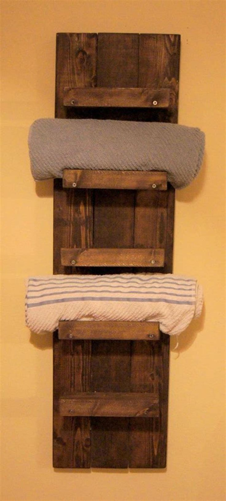 42 Awesome Bathroom Cabinet With Towel Rack Ideas Towel Holder Bathroom Diy Towel Rack Wooden Bathroom Shelves
