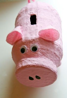 Collect money for a service project!  If you dare, try making a paper mache piggy bank with your class!!
