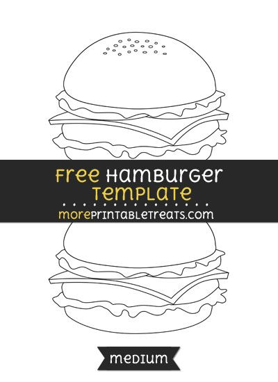 free hamburger template medium classroom ideas that look awesome