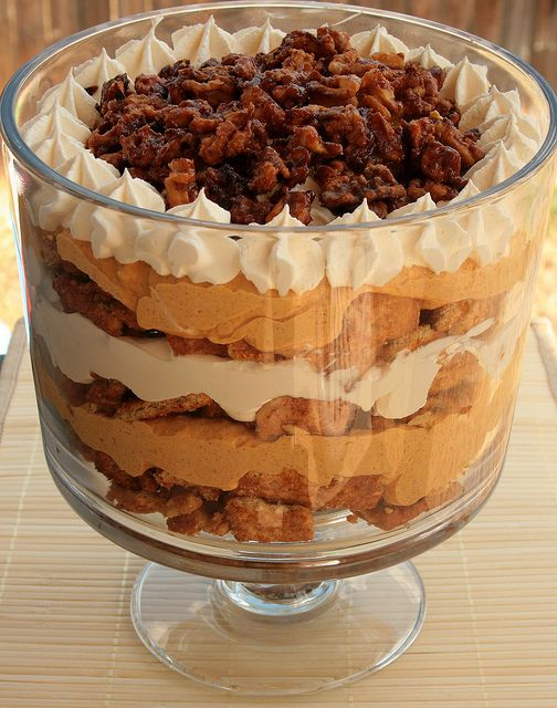 Pumpkin Maple Trifle- Yay for trifle bowl recipes and double yay for pumpkin recipes!!