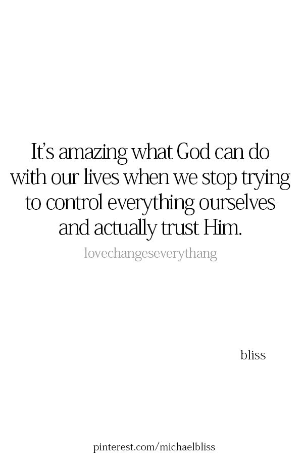 It's amazingly what we can do with our lives when we stop relying on an imaginary friend, take control, and trust in ourselves!