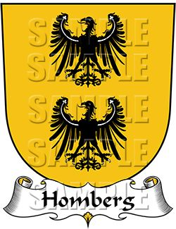 Homberg Family Crest apparel, Homberg Coat of Arms gifts