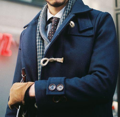 秋冬スーツにダッフルコートの選択!お気に入りアウターは週6good!