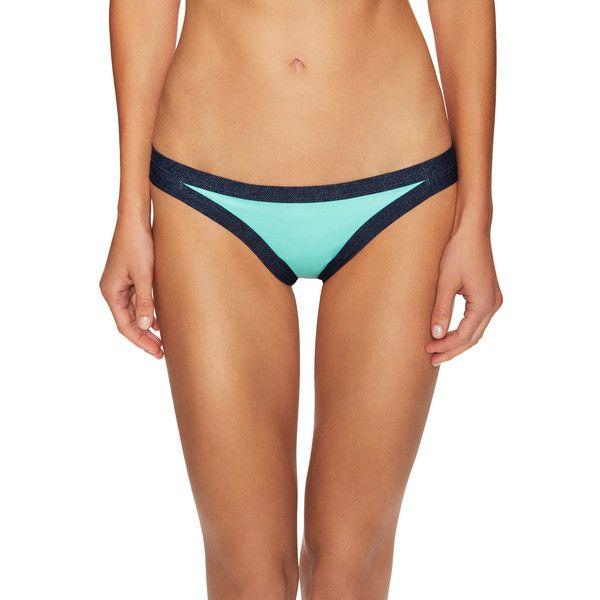 L'Space Women's Charlie Classic Bikini Bottom - Blue - Size m ($41) ❤ liked on Polyvore featuring swimwear, bikinis, bikini bottoms, blue, swimsuit tops, blue bikini top, cutout bikini top, cut-out swimwear and lspace swimwear