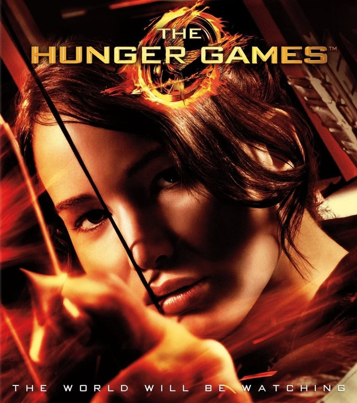 Jennifer Lawrence as Katniss Everdeen in The Hunger Games.  Fabulous image from the movie cover.