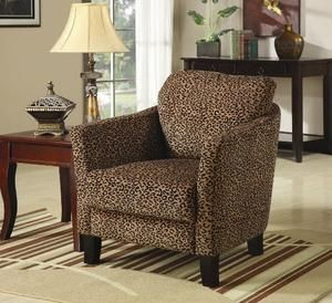 Arm Chair with Leopard Print