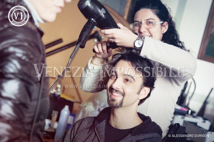Francesco Wolf [protagonista] e Mery Zugno [truccatrice e assistente di produzione].  Location: villa Ca' Marcello, Levada di Piombino Dese.