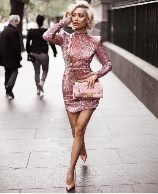 kışlık pembe elbiseler 2017 18 - Güzelkız.com