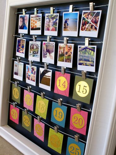 Relive the highlights of your year each day when you flip over a number on this Instagram photo calendar. #christmasdiy #christmasideas #holidaydiy